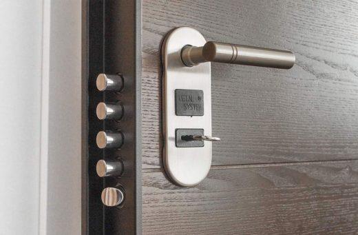 Maniglia per porta blindata